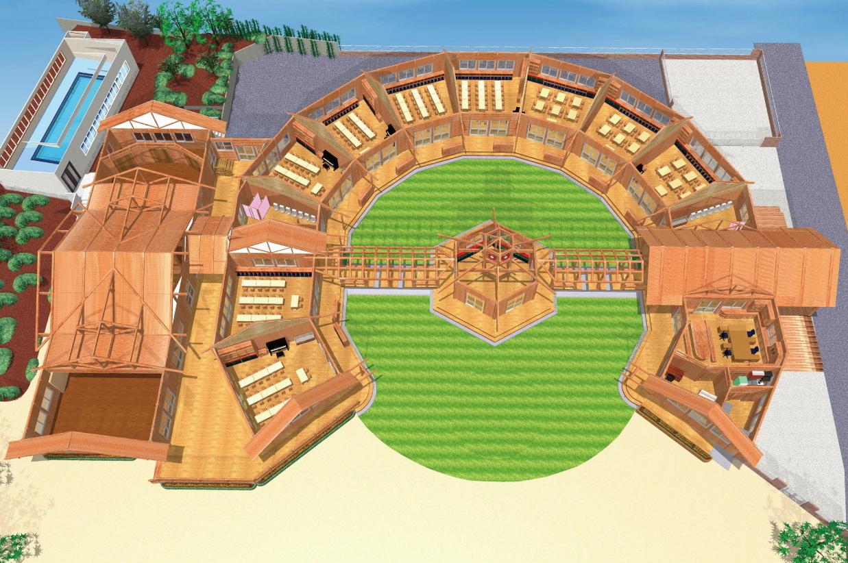ログハウスの園舎のイメージ